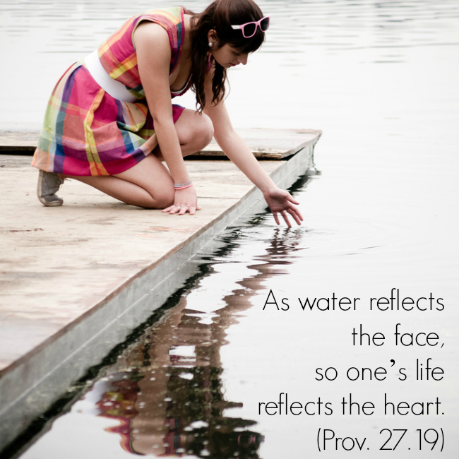 reflecting the heart